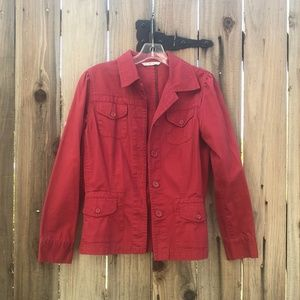 CAbi Red Utility Button Up Jacket